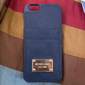 Michael Kors navy blue case iPhone 6/7